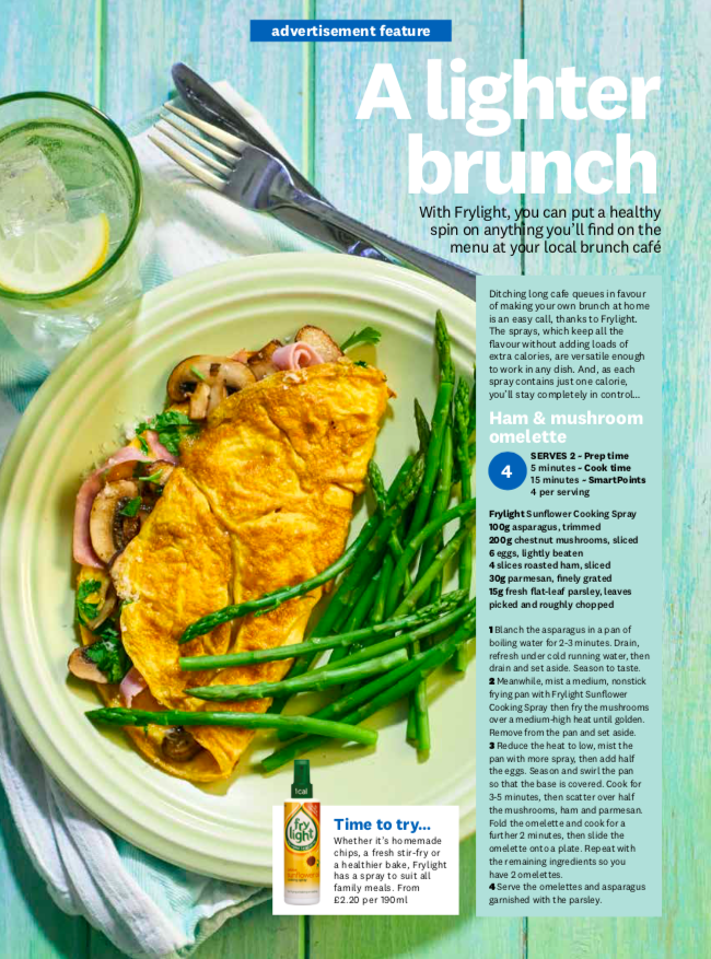 Publication: Weight Watchers Magazine May issue 2019  Photographer: Clare Miller  Props and art direction: Seven advertorial team