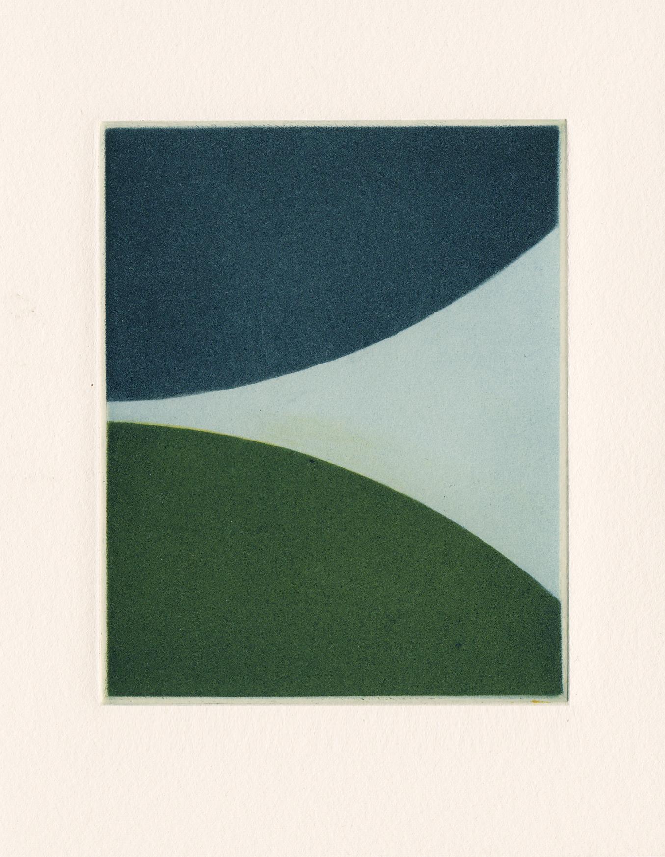 Majla Zeneli, The yellowed descent, 2015, Mezzotinto-Druck, 10 x 8 cm