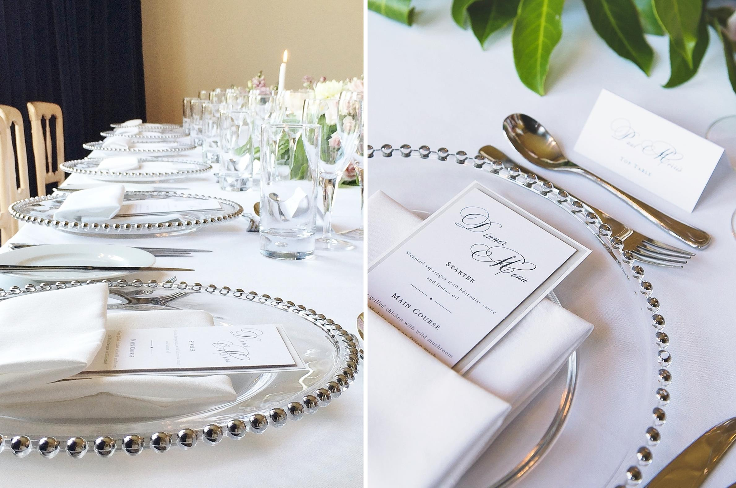 The Mansion House Table Settings