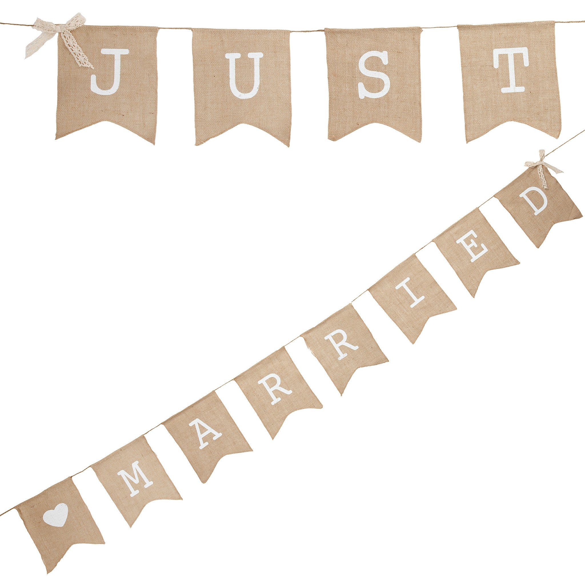 """JUST MARRIED"" BUNTING  Length 250cm"