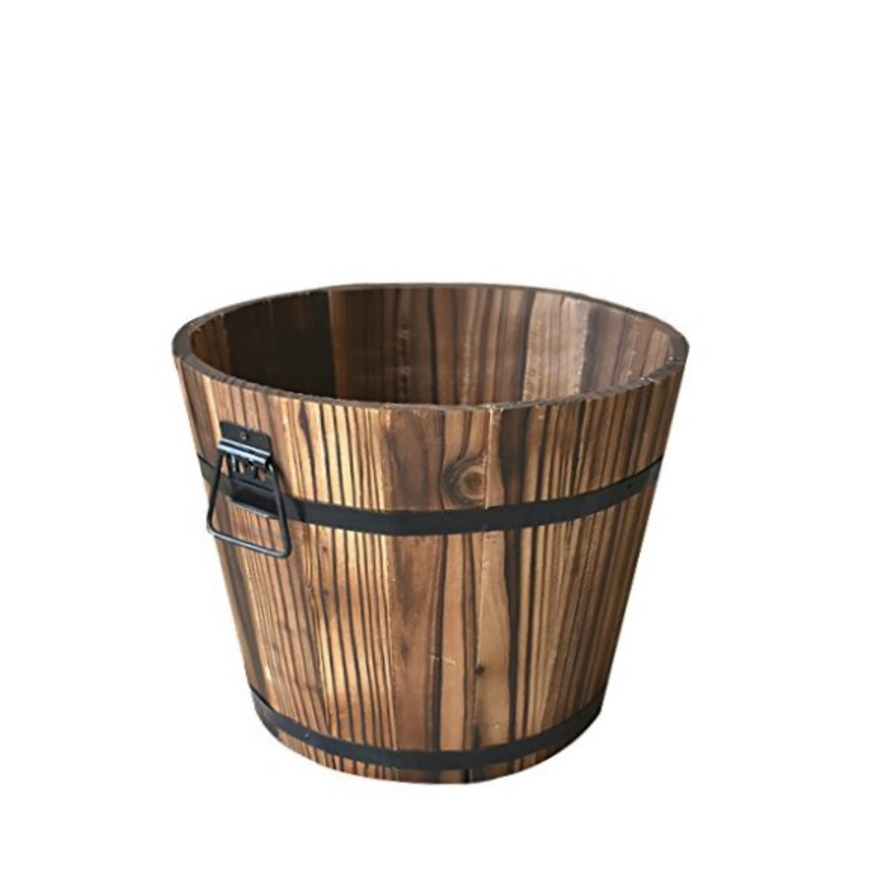 WOODEN BARREL BUCKET  Approx. size 25 x 18cm