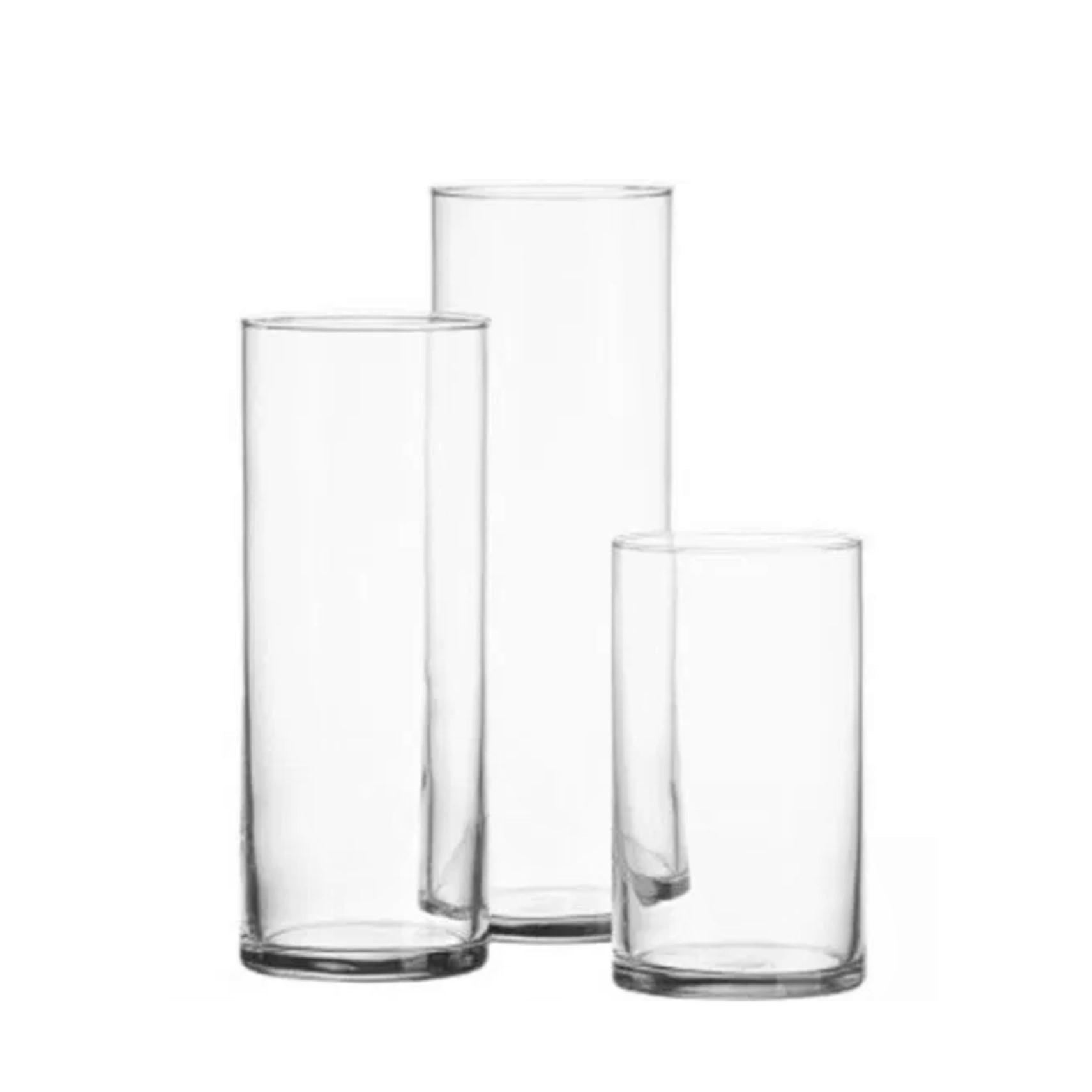 GLASS CYLINDER VASES