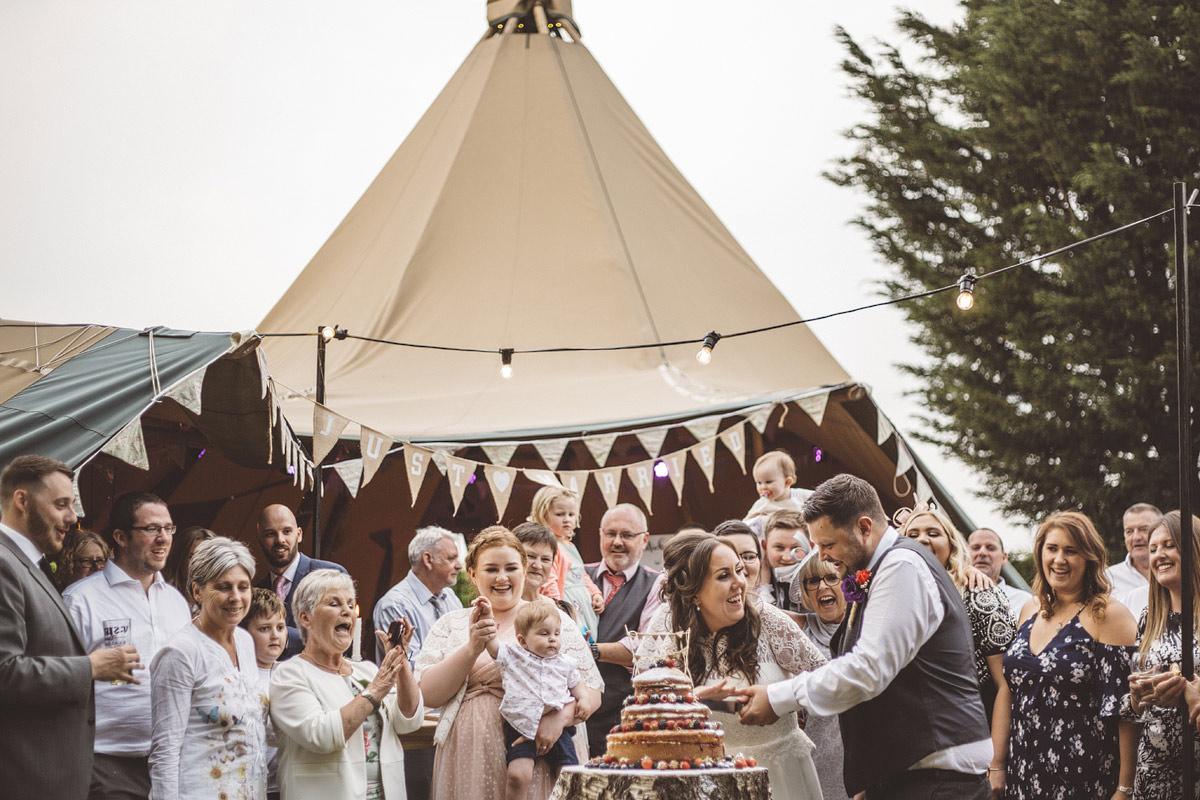 Cholmondeley Arms Tipi Cheshire Wedding Photography - 28.jpg