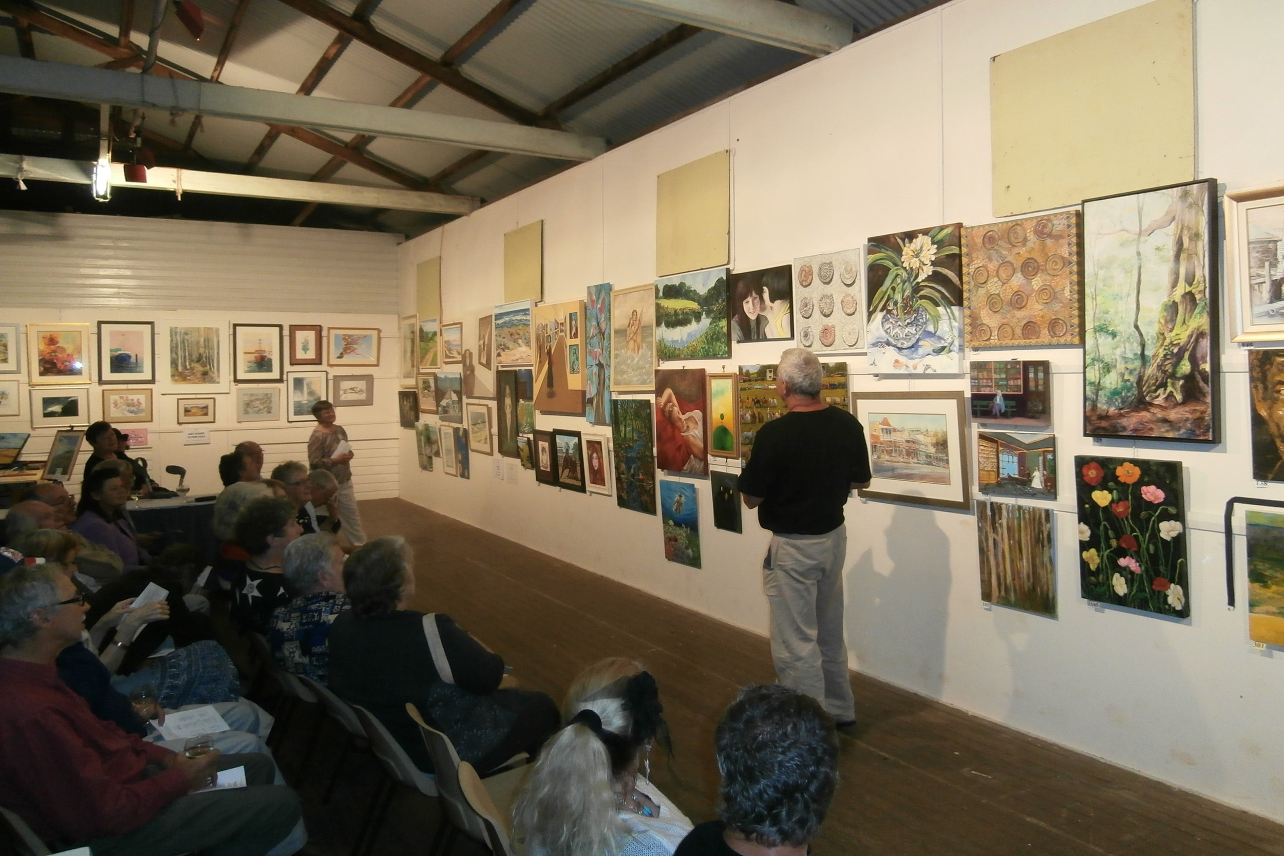Preview Night at the Fine Arts Section of the Dorrigo Show