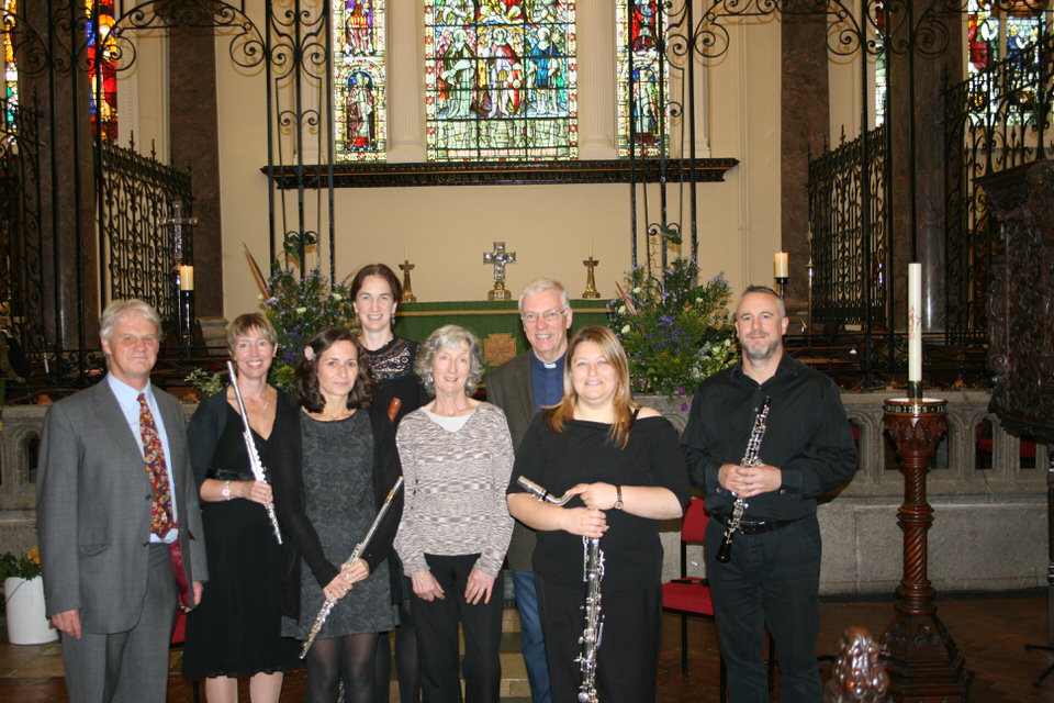 CMST Staff Woodwind Ensemble featuring Verena Watkiss (Woodwind Team Manager), Lowenna Thrussell, Sarah Whomersly, Julia Knight-Bennett and Colin Friend.
