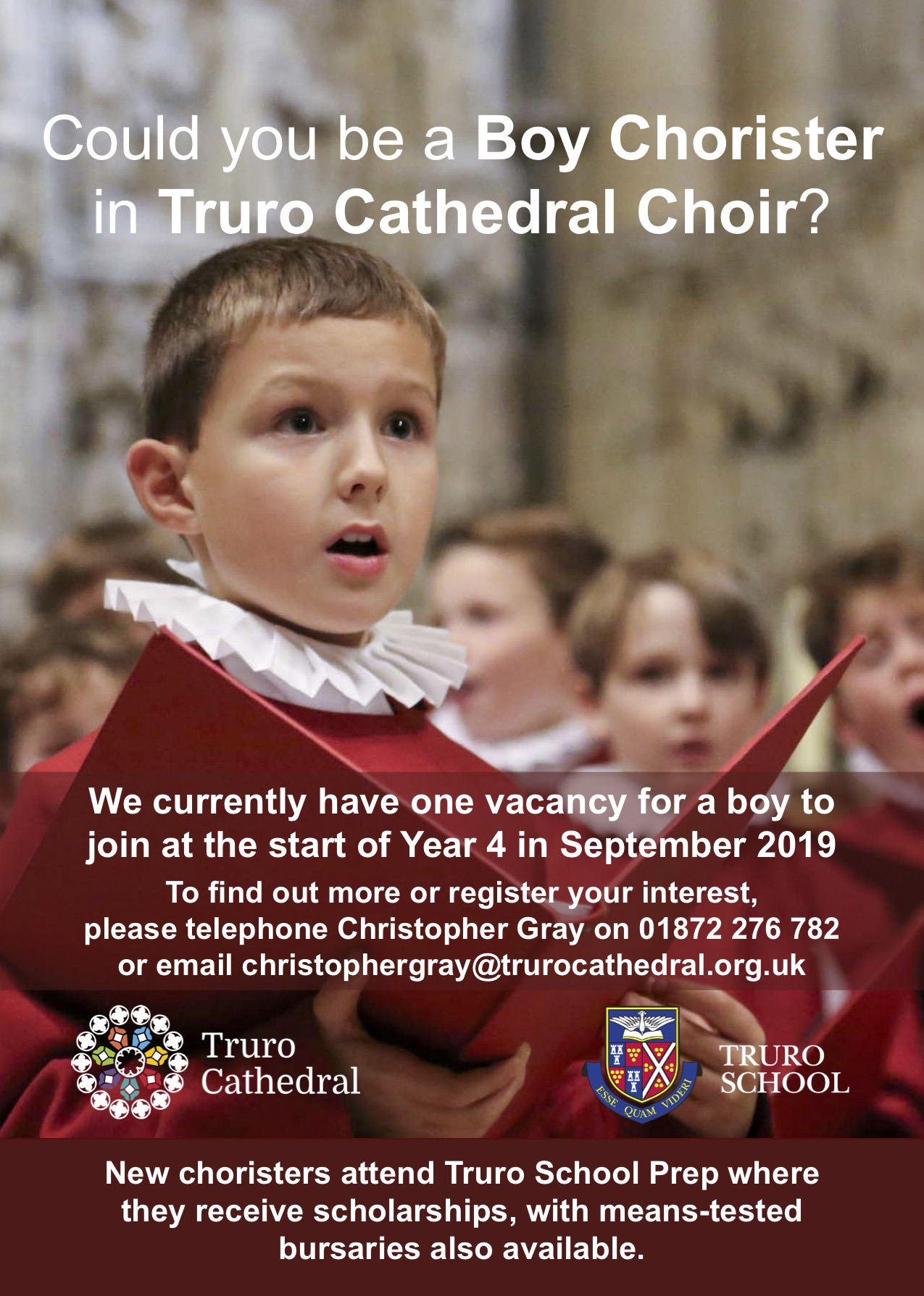 A4 Boy Chorister Advert - September 2019 Vacancy.jpg