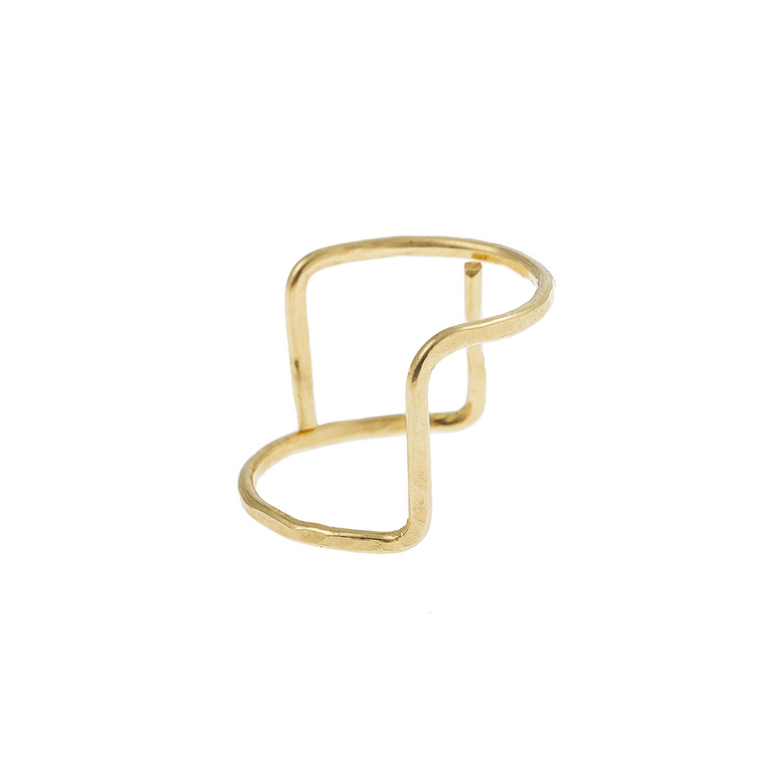 Bague fine or, vermeil, modulable, différentes façon de la porter.