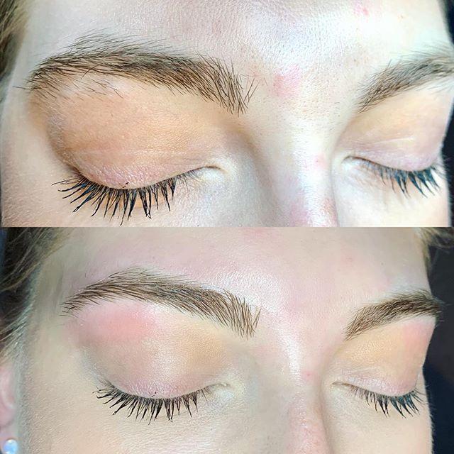 Brow envy 😍 #brows #beforeandafter #browshaping #browsonfleek #esthetician