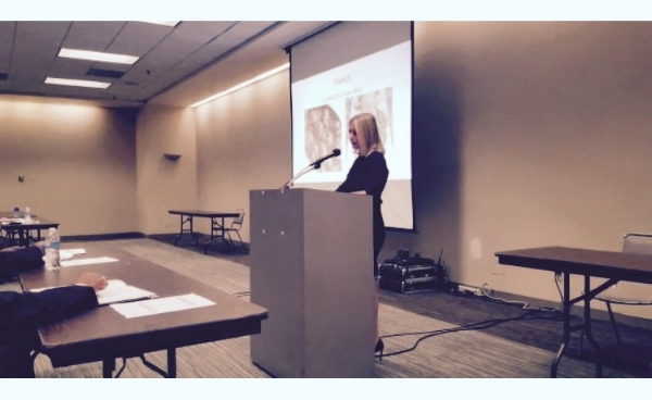 """Speaking on interpreting for French-speaking litigants during a courtwide meeting entitled """"The Bilingual Courtroom and Equal Access to Justice"""" for the Cleveland Municipal Court. (2017)"""
