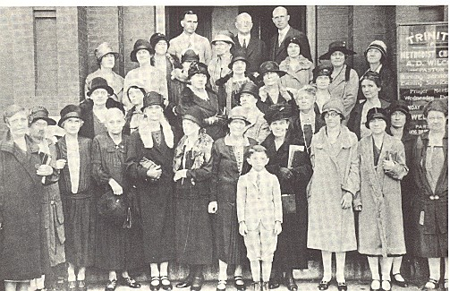 Members of Trinity Methodist, who, together with the congregation of Tryon Street Methodist, formed the new First Methodist in 1927.