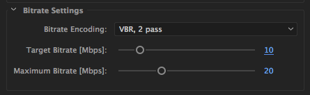 Best Bitrate settings for 1080p video to Vimeo.