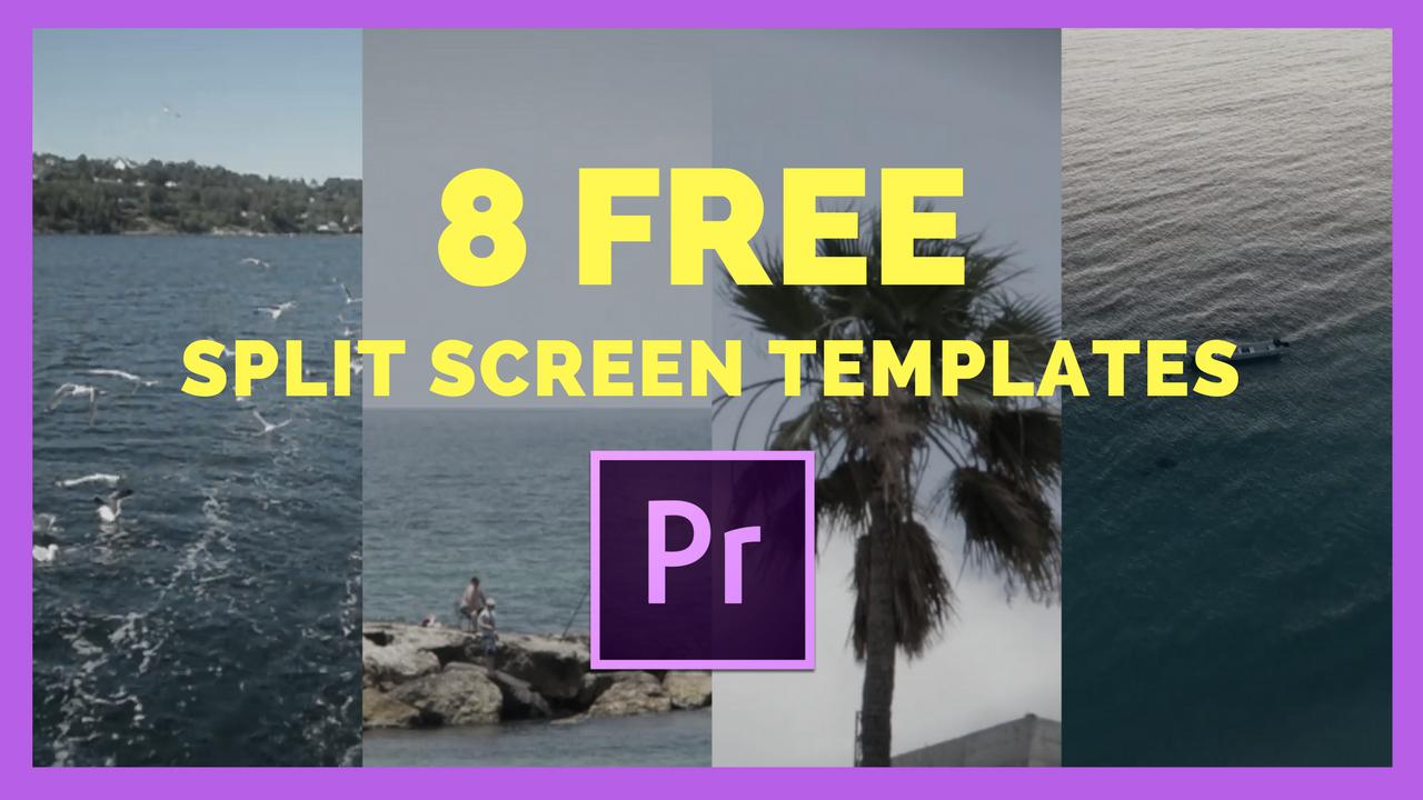 8 Split Screen Templates for Premiere Pro CC — Premiere Gal