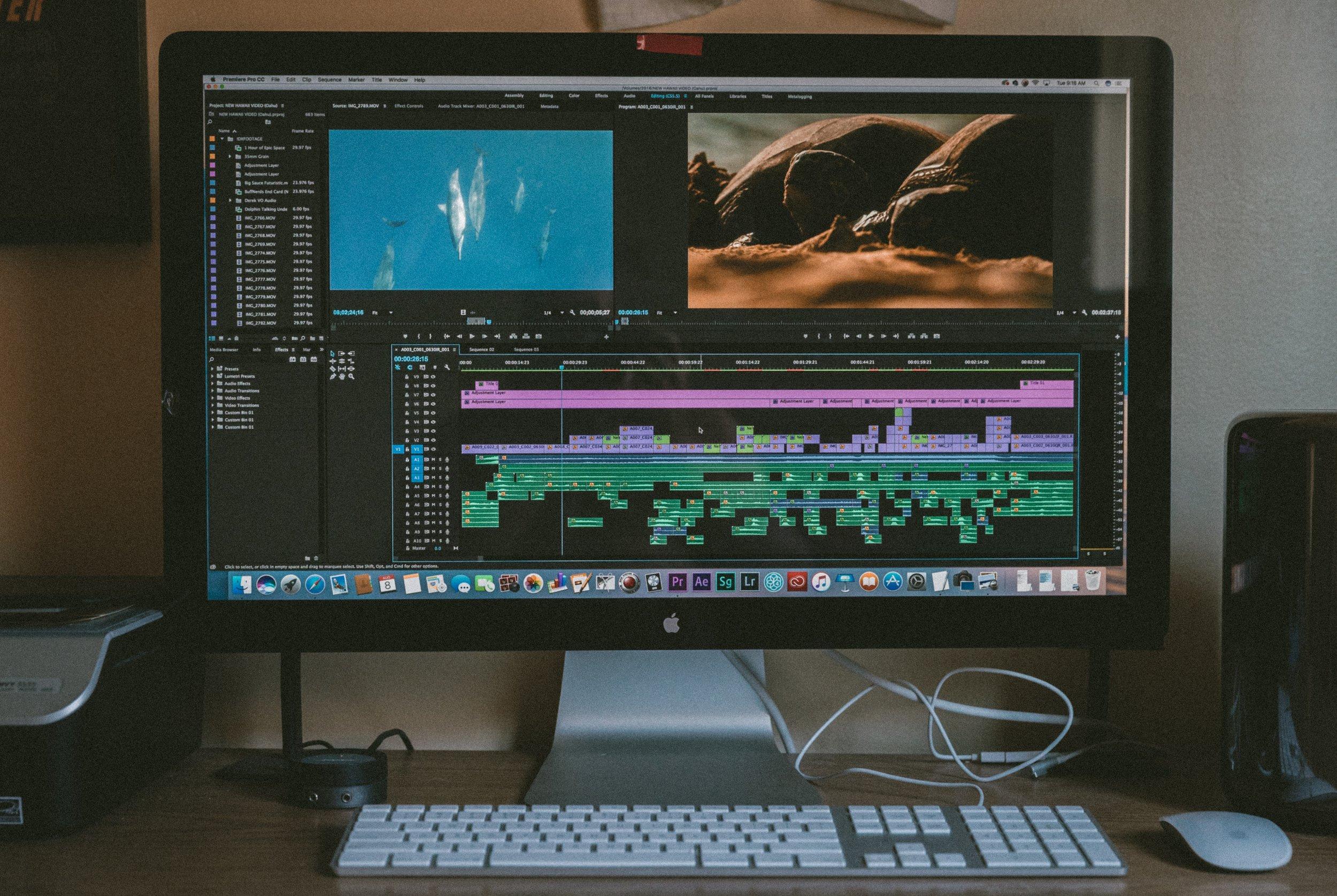 Premiere Pro CC Video Editing Timeline