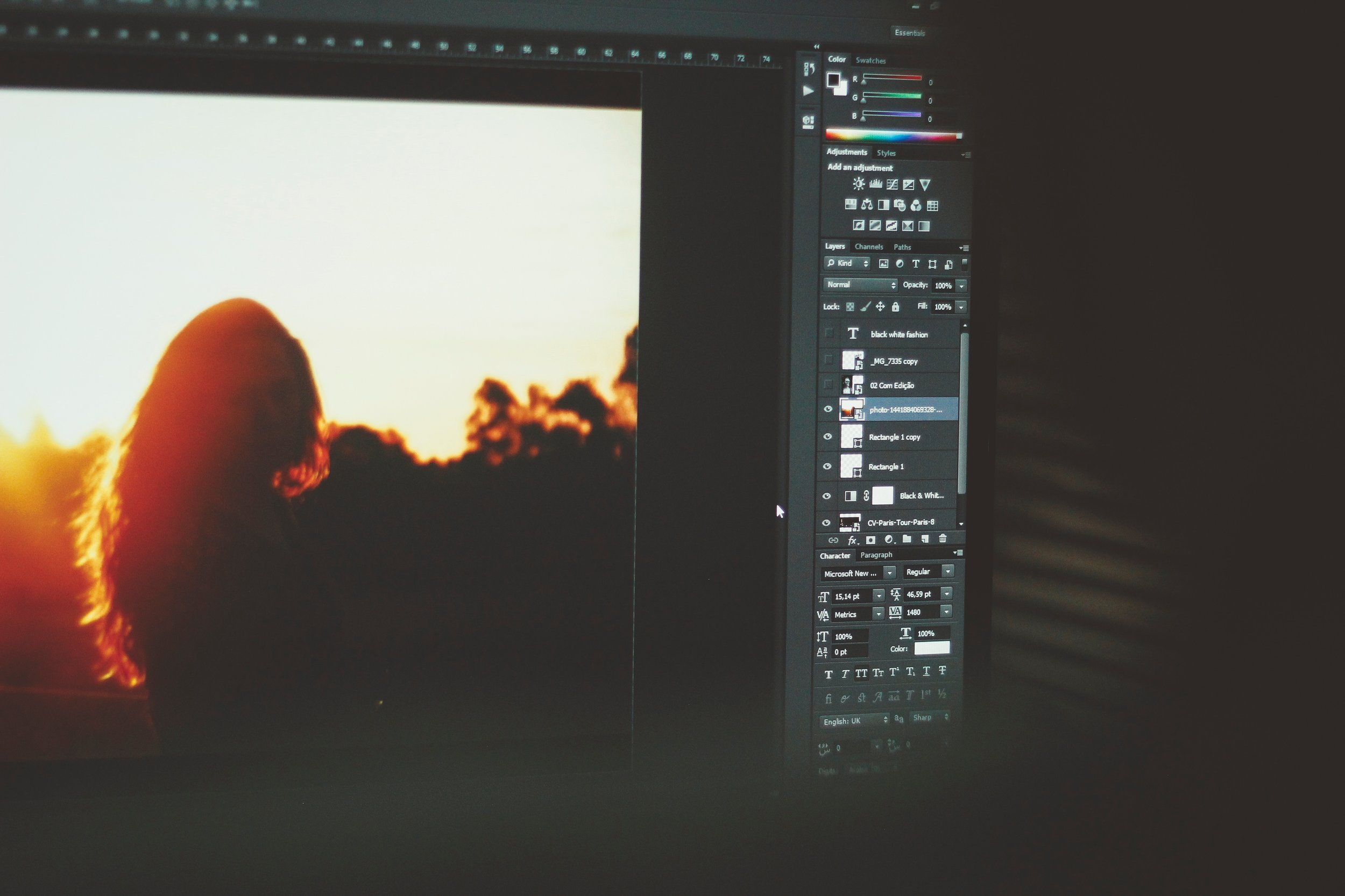 Photoshop CC in action.
