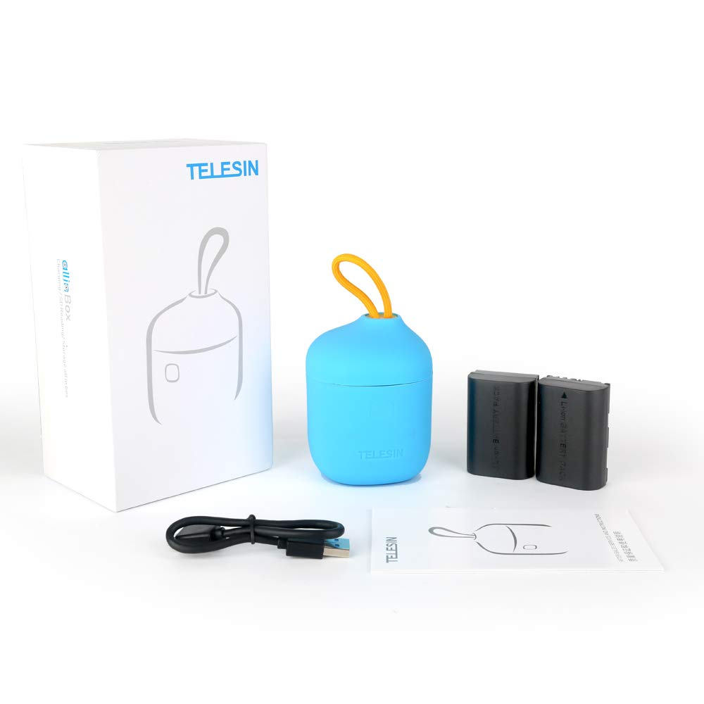 Telesin All in Box 2 in 1 Dual USB Battery Charger, SD Card Reader and Storage case.
