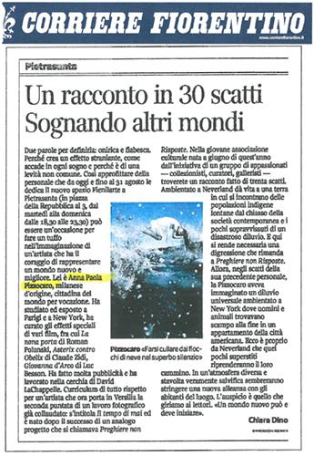 """""""Corriere Fiorentino"""" Italian Local Newspaper 2012"""