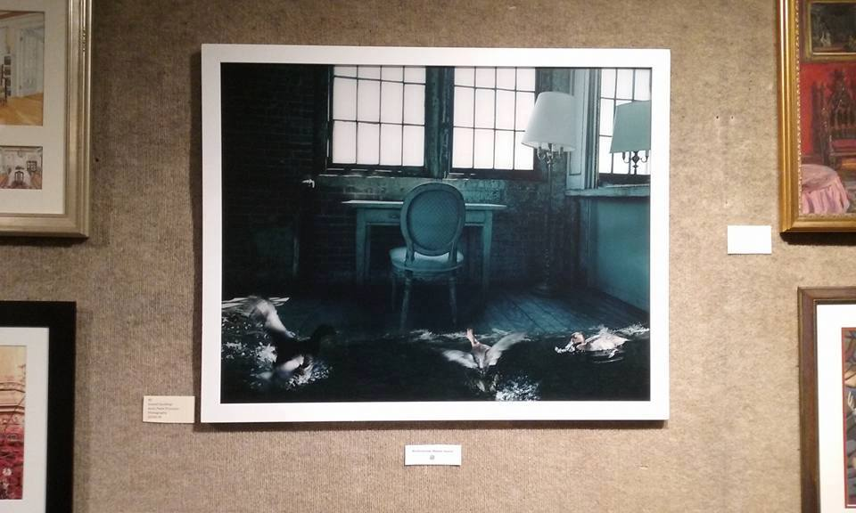 "June 5th -22th, 2017 Group Exhibition ""Interiors"" at Salmagundi Club NYC, Bartholomew Meeker Award Anna Paola Pizzocaro received the Bartholomew Meeker Award for the photographic artwork ""Scared Ducklings"" on June 7th 2017 at Salmagundi Club in NYC."