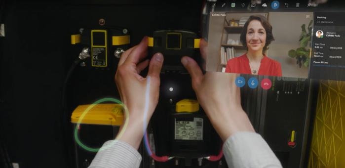 What you might see using Microsoft Dynamics 365 and the Microsoft HoloLens.