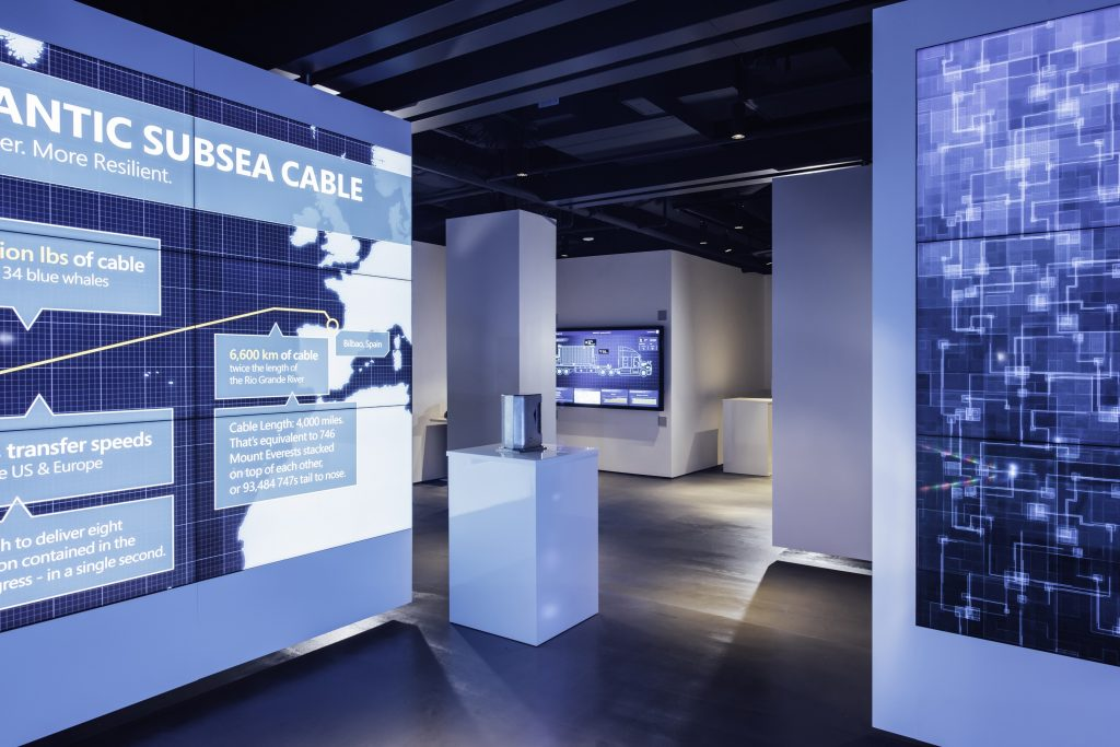 Visitors to the CCC experience an interactive tour that illustrates how Microsoft manages its cloud infrastructure at hyper-scale.