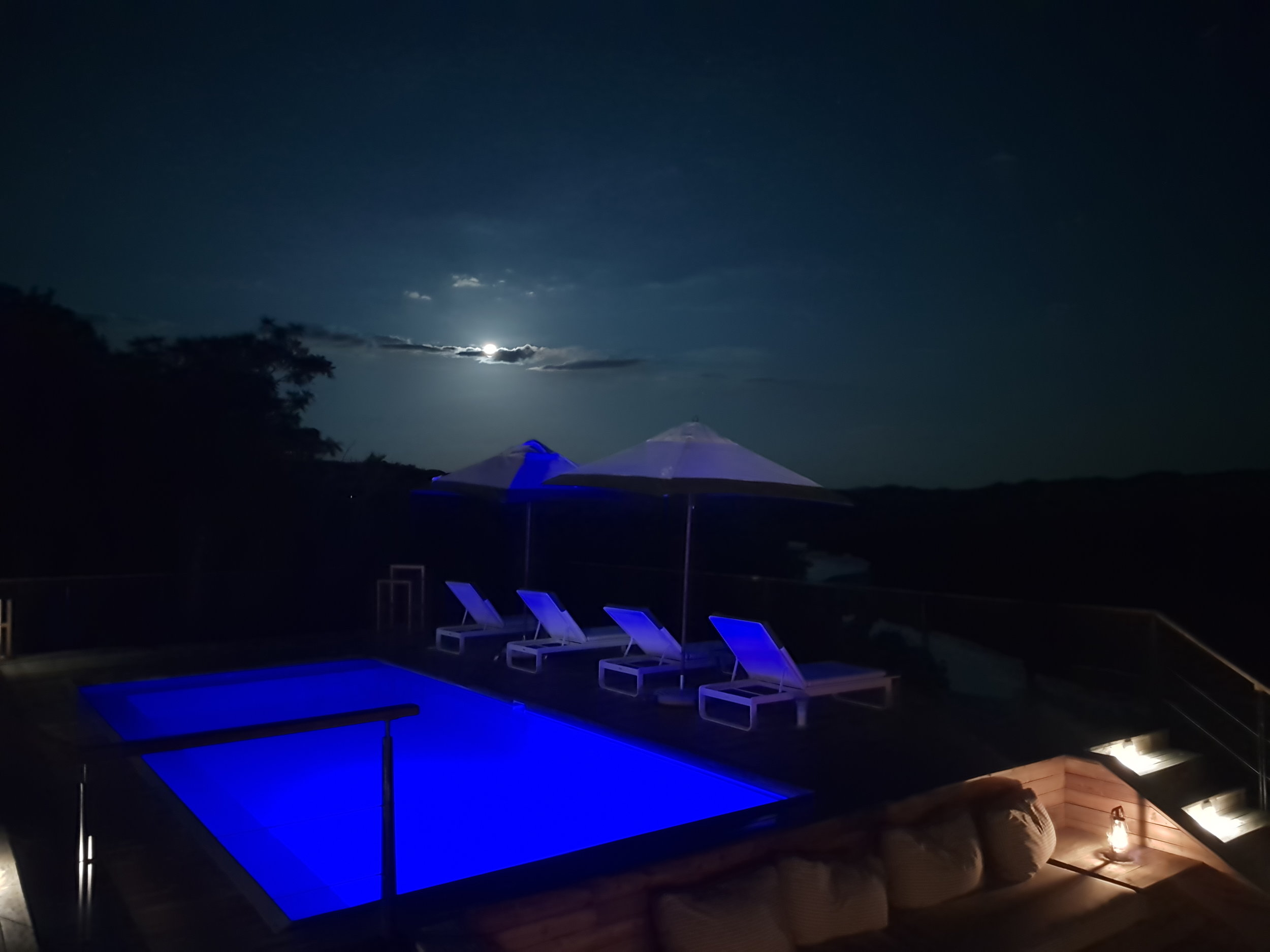 FULL MOON PRESENTS: Time for a full moon swim at Pel's Post.