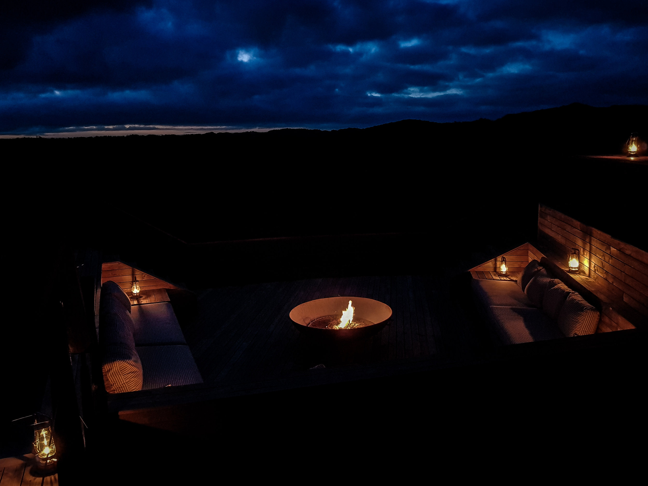 PEL'S POST MAGIC: What better way to spend an evening than around the fire pit, chatting about the day's action and sharing stories over a gin and tonic.