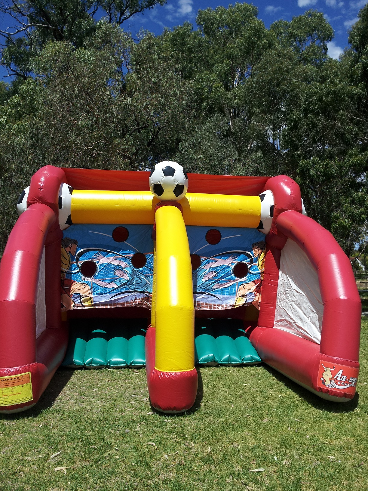 Soccer Challenge is free to hire as part of our Triple Bounce package deal - OR$200 AS PART OF OUR DOUBLE BOUNCE PACKAGE DEAL