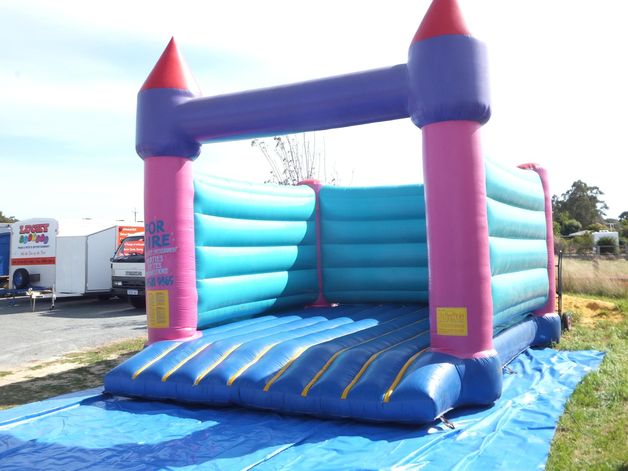 Blue Bouncy Castle