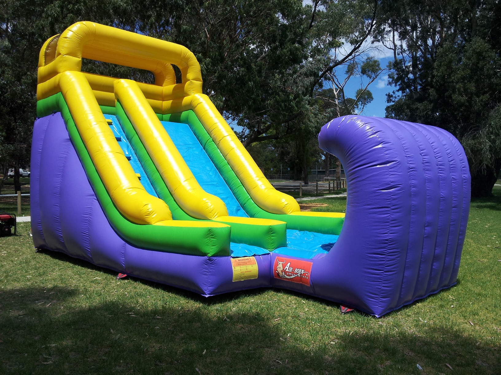 - GIANT WAVE SLIDE CAN BE HIRED FOR $250 AS PART OF OUR DOUBLE BOUNCE PACKAGE DEAL