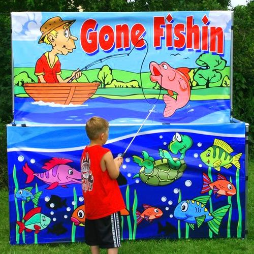 GONE FISHIN. COMES WITH 50 SMALL PRIZES INCLUDED
