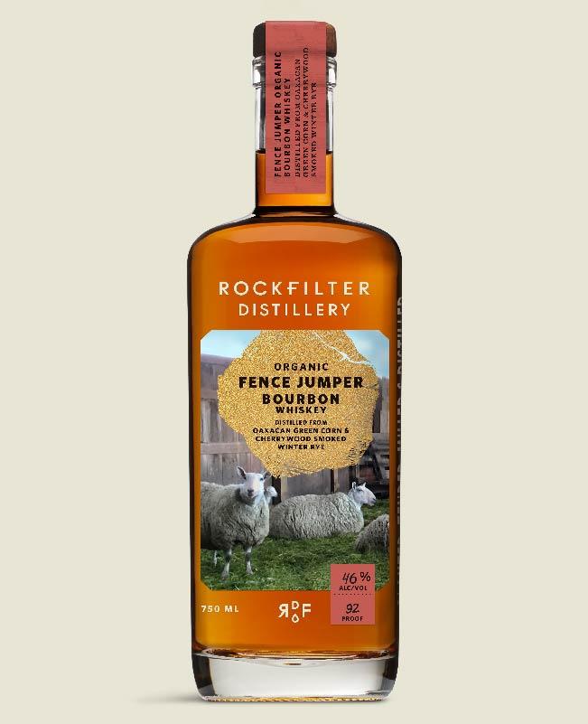 Fence Jumper Organic Bourbon Whiskey from RockFilter Distillery in Spring Grove, Minnesota