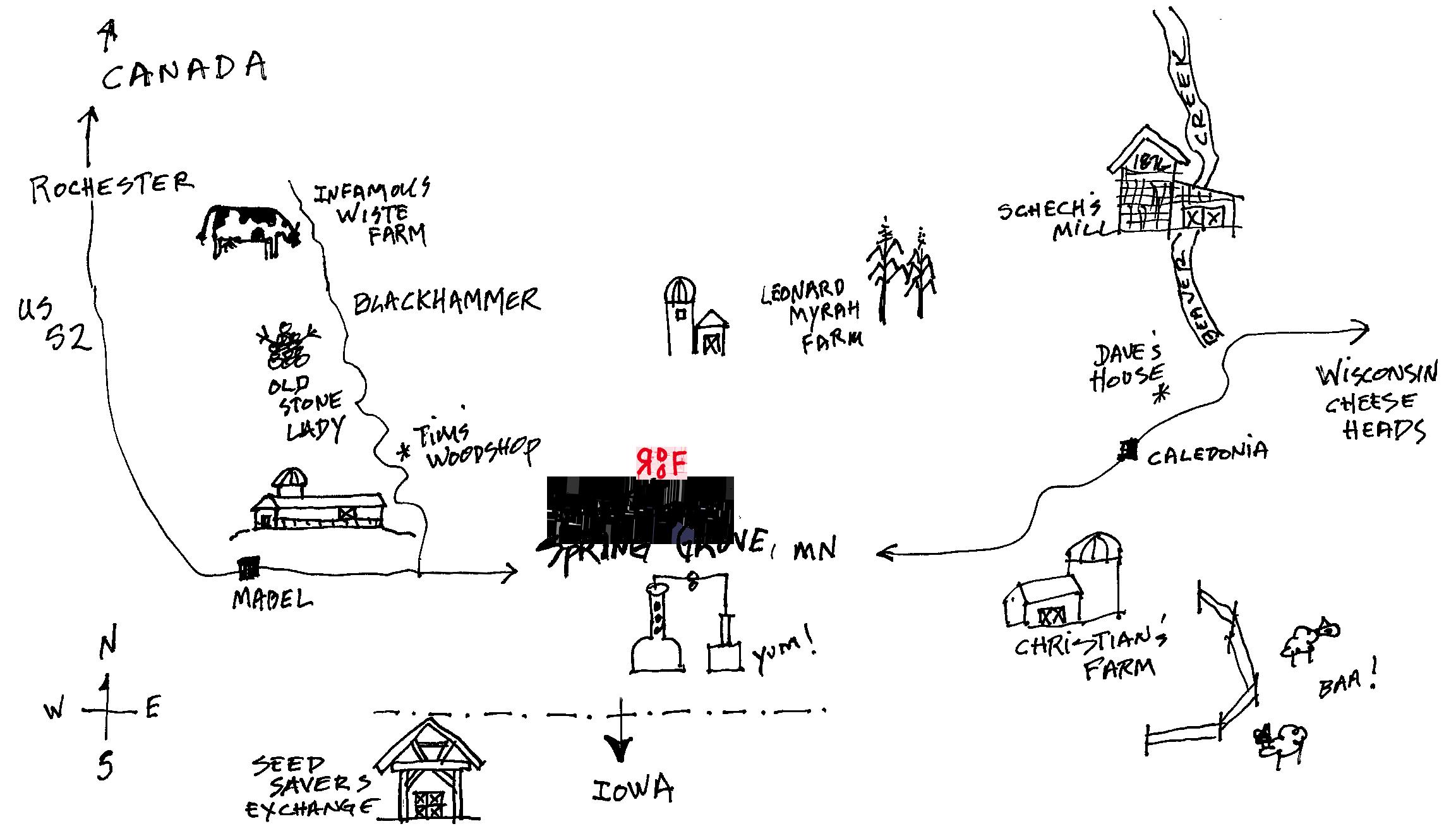 Map of Spring Grove, Minnesota