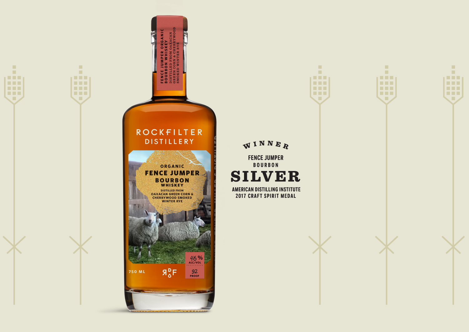 Organic Giants of the Earth Bourbon Whiskey from RockFilter Distillery in Spring Grove, Minnesota.