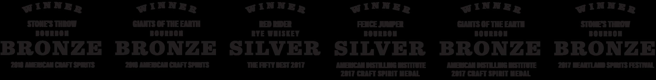 RockFilter Award-Winning Bourbons