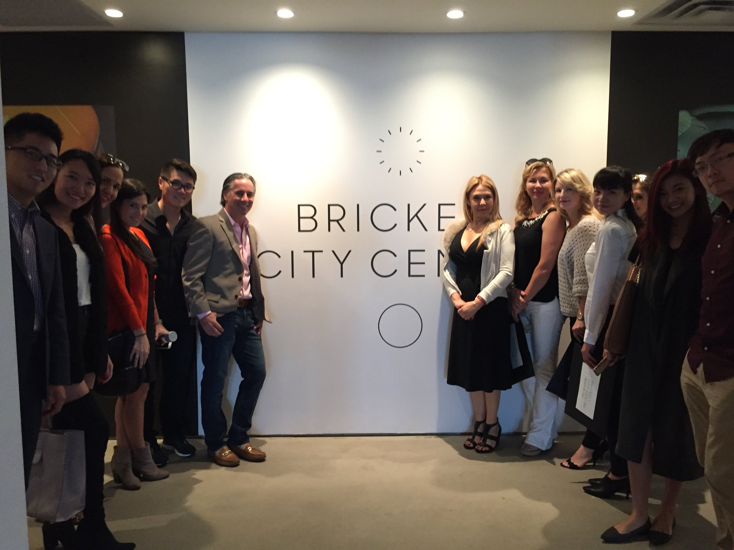 The ISG Asia Team at the Brickell City Centre Sales Offices