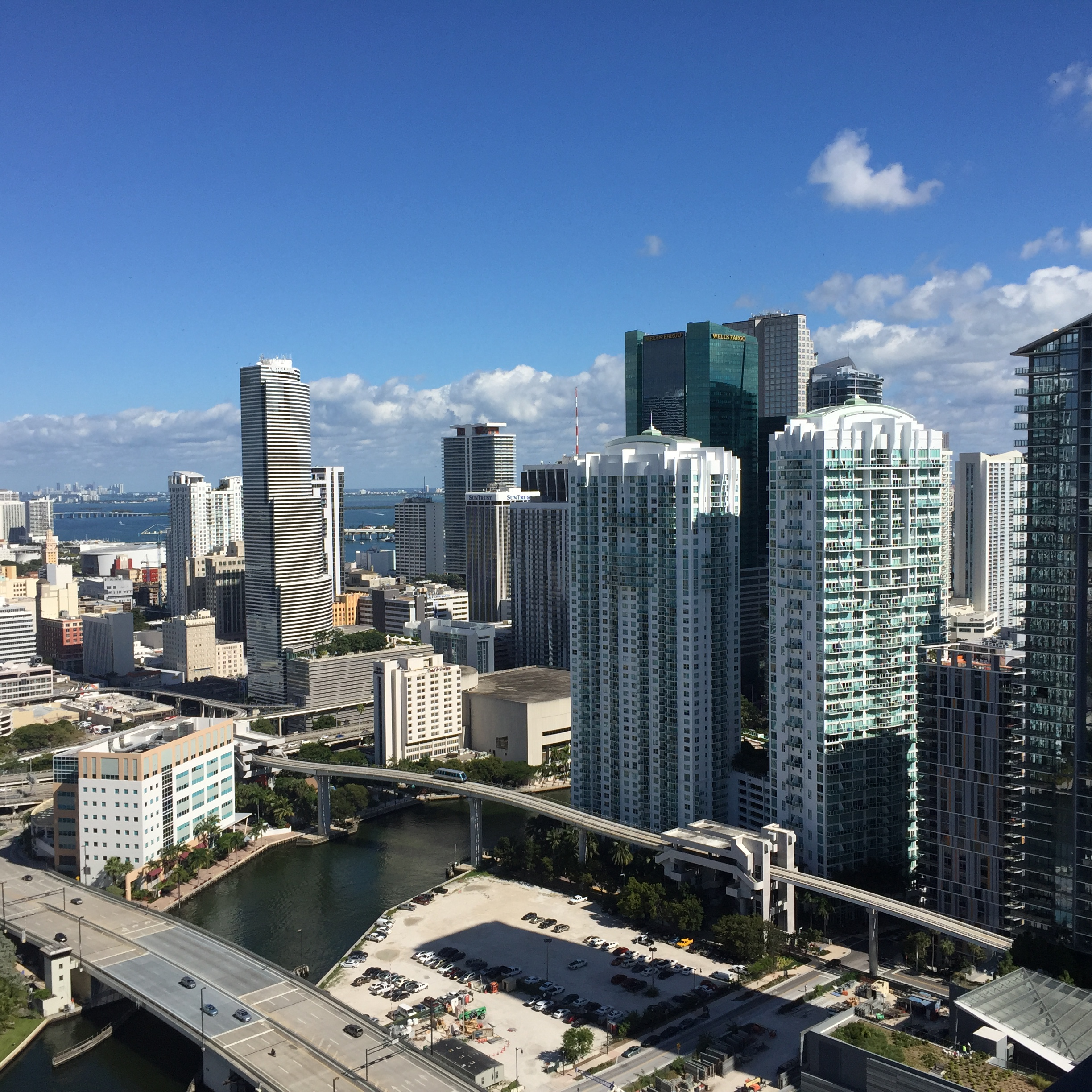 View from REACH at the Brickell City Centre