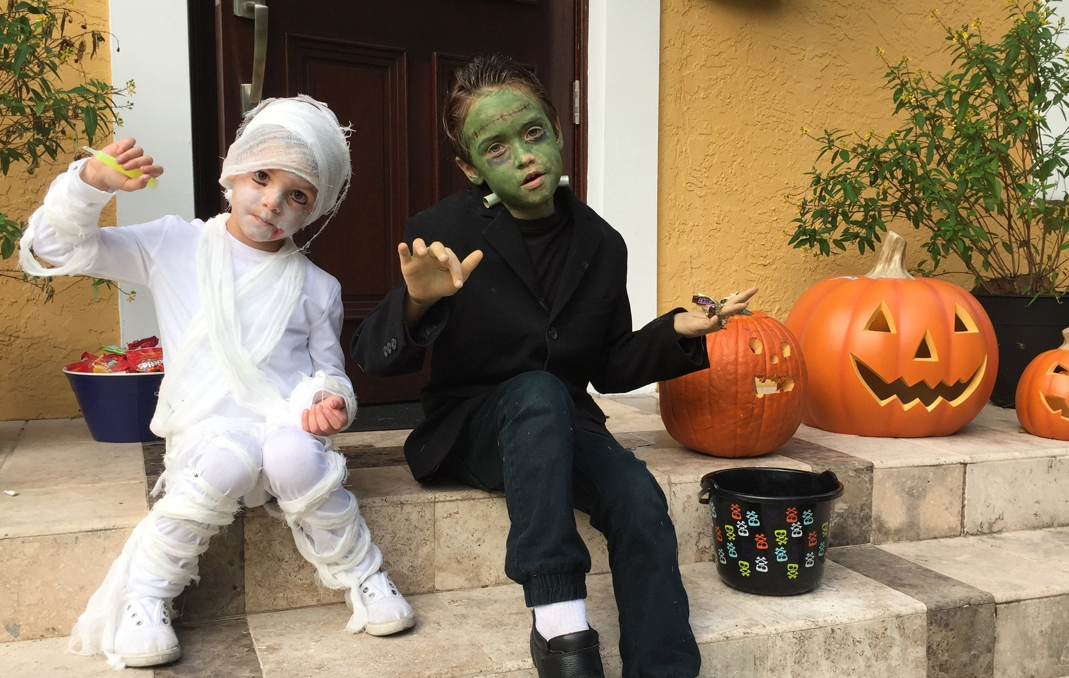 Avirett Boys: A Mummy and Frankenstein
