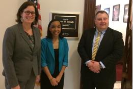 Julia Kirt and Brian Parsons with Senator Inhofe's Legislative Correspondent Dominque McKay