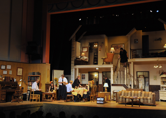CityRep's Regional premiere production of Oklahoma native Tracy Lett's Pulitzer Prize and Tony Award winning drama, AUGUST: OSAGE COUNTY. Photo by Wendy Mutz, Mutz Photography