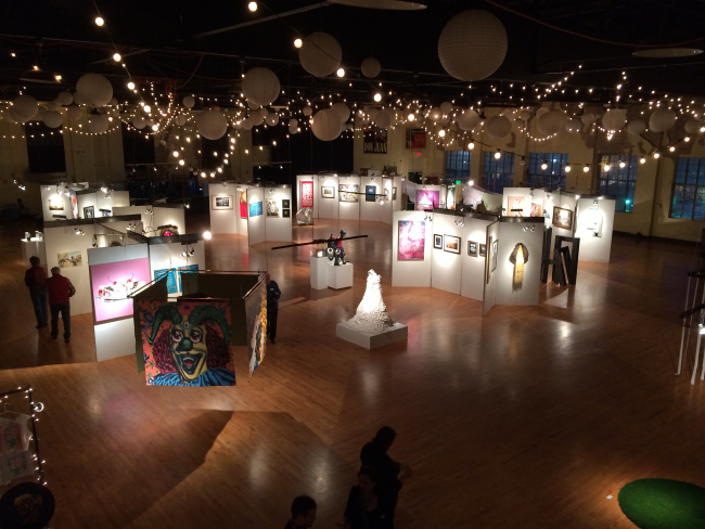 Member organization Oklahoma Visual Arts Coalition's Momentum exhibition featuring young artists