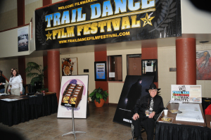 Film lovers were welcomed in the lobby of the Simmons Center during the Trail Dance Film Festival.