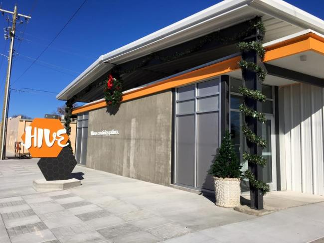 The Hive, a new center for creativity in downtown Jenks.