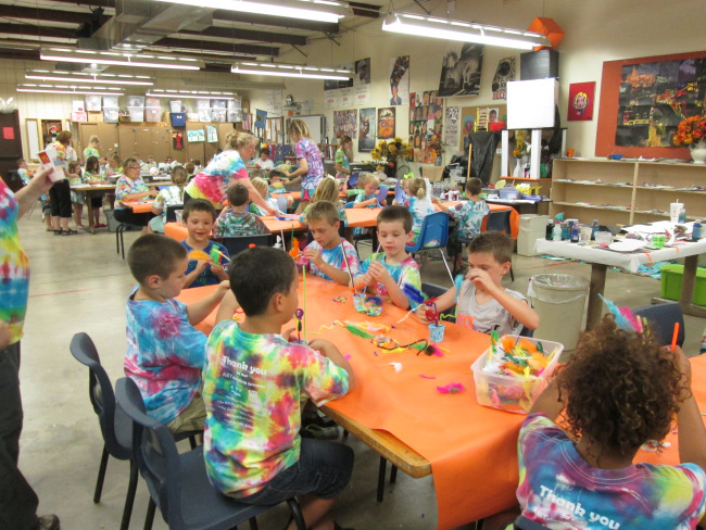 Kids participating in Cushing Arts and Humanities Council's Summer Art Camp
