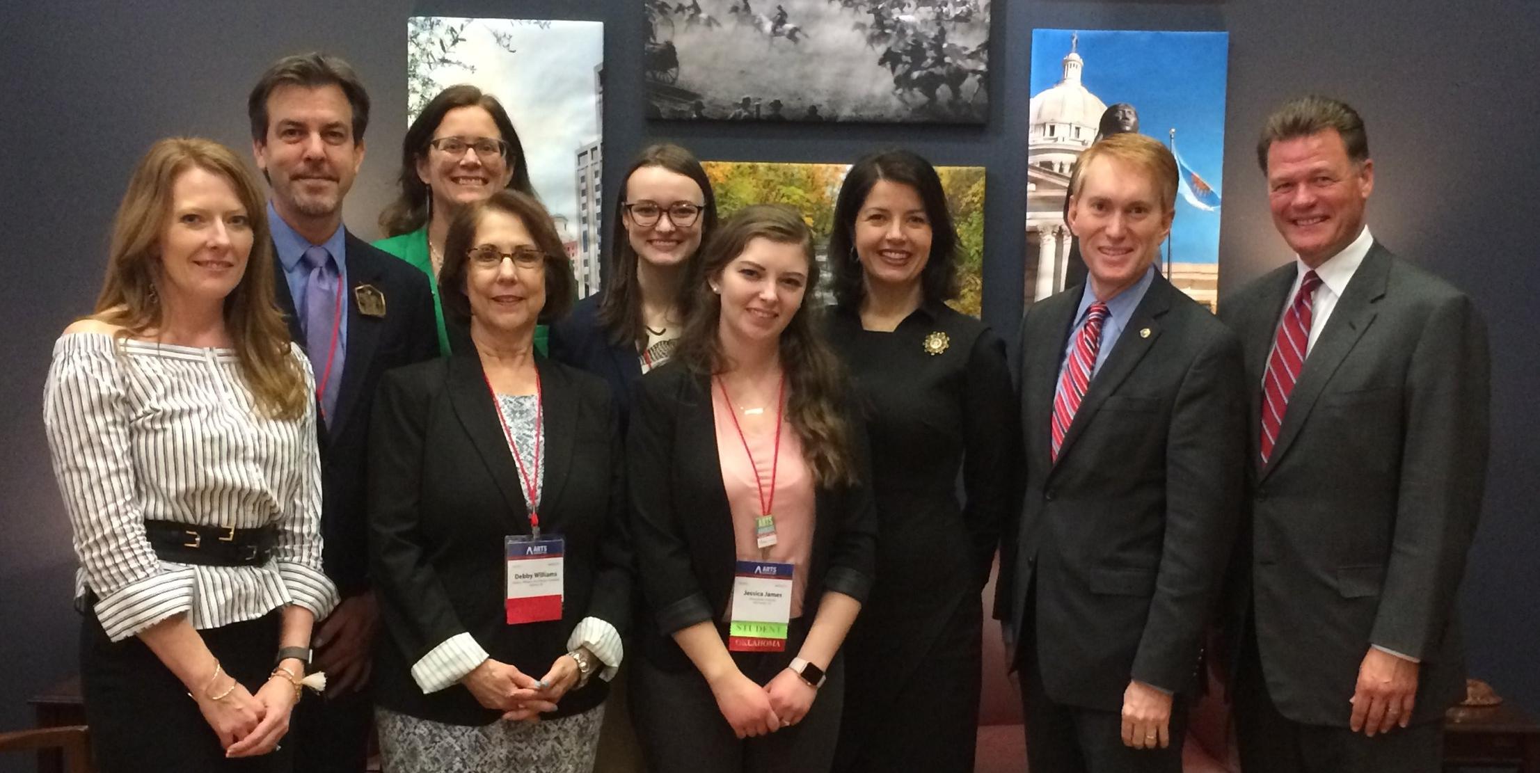 Oklahoma arts leaders met with Senator James Lankford.