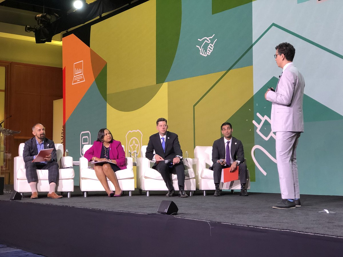 OKC Mayor David Holt (3rd from L) participates in US Conference of Mayors conference in June 2018.