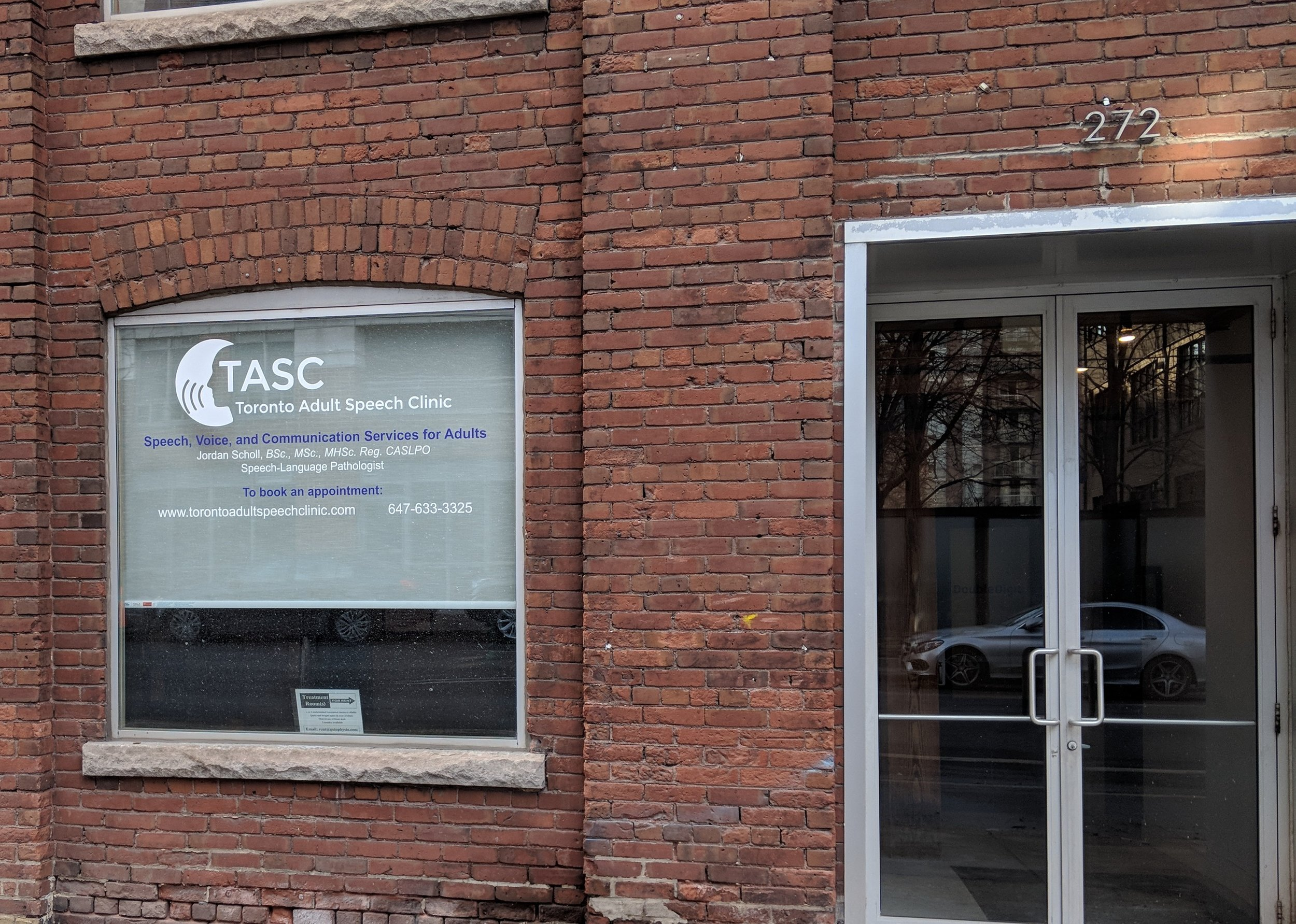 Toronto Adult Speech Clinic: 272 Richmond St E. Suite 100