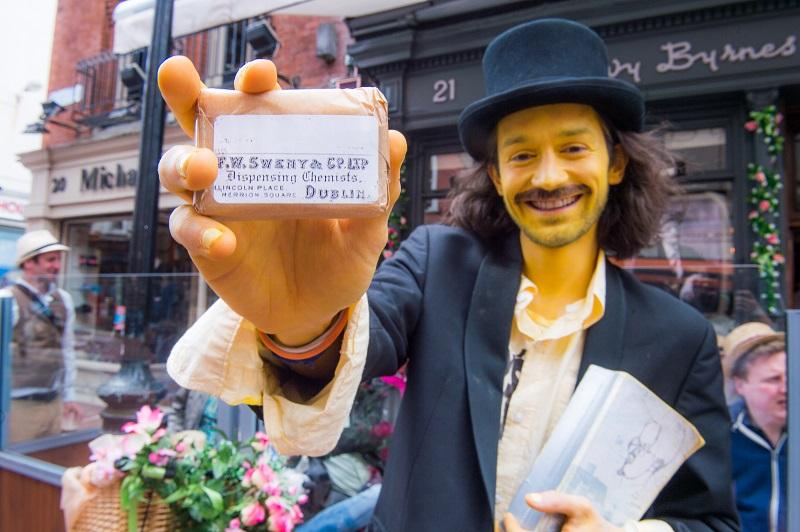 Bloomsday Festival Dublin Sweny's Lemon Soap Man websize.jpg