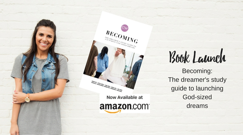 Becoming: The dreamers study guide to launching God-sized dreams.  ~ Just in time for Christmas in paper back or kindle ~