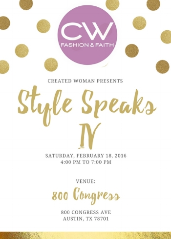 Merry Christmas! We can't wait to launch dreams together in 2017! You are created on purpose & for a purpose!  See you at Style Speaks! Tickets available now for you and a friend!
