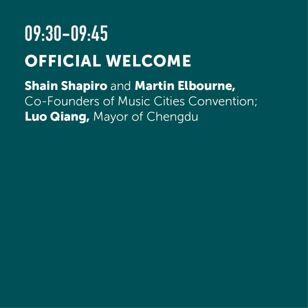Chengdu Schedule — Music Cities Convention