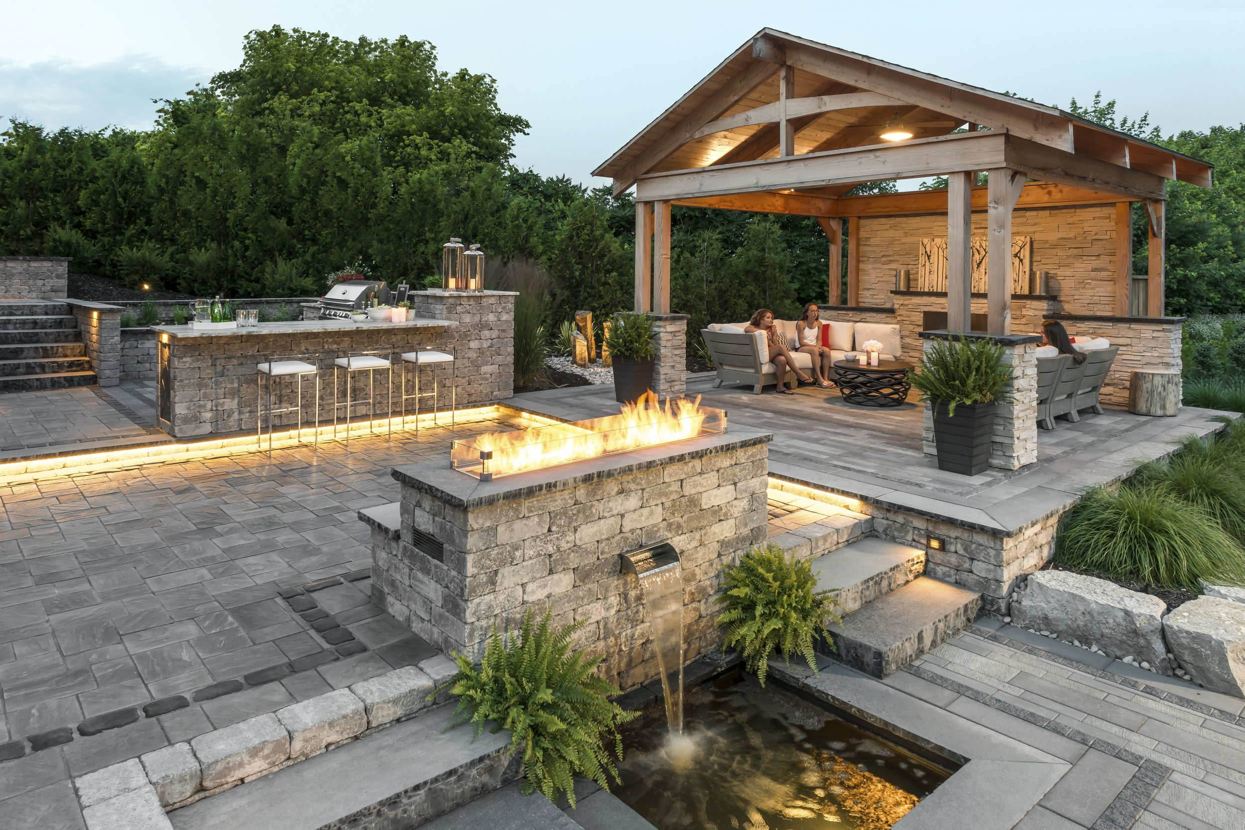 Patio Lagrangeville New York Summer Entertaining Lehigh Landscaping Landscapers In Dutchess County Ny